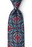 Stained Glass Red Microfiber Tie