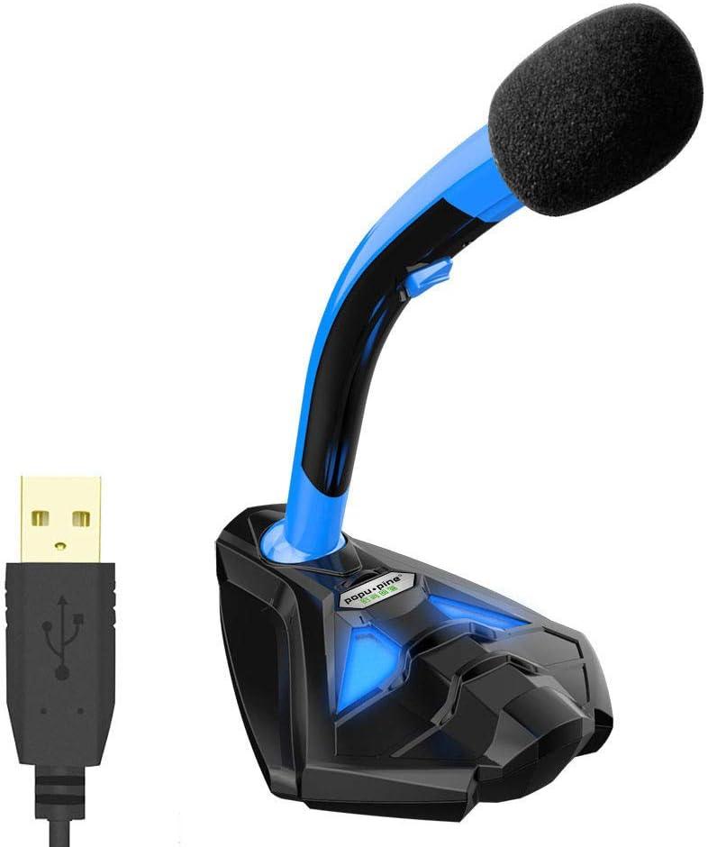 Karaoke del micrófono inalámbrico Bluetooth Micrófono USB de escritorio de voz para computadora PC portátil Mac y PS4 - Audio de alta definición y calidad para la grabación de juegos en vivo Navidad c
