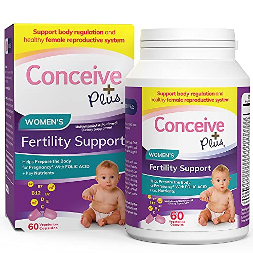 Conceive Plus Fertility Prenatal Vitamins – Aid Conception, Regulate Hormones, Balance Ovulation, Folate Folic Acid…