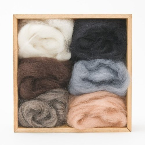 New Wool Blend Zealand - Woolpets Neutral Roving Wool
