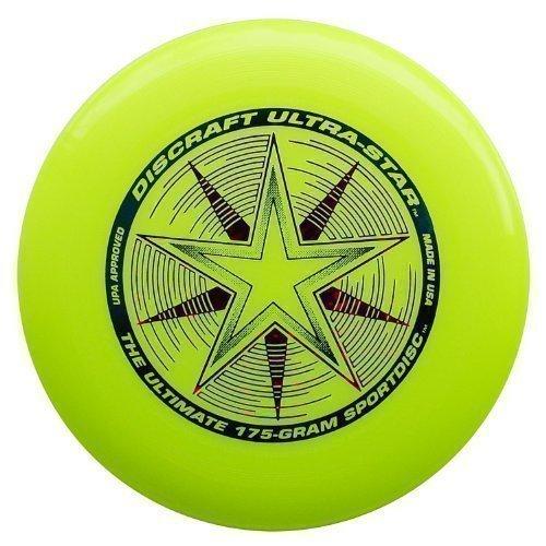 "2 opinioni per Discraft Ultra Star 175g Ultimate Frisbee ""Starburst""- giallo"