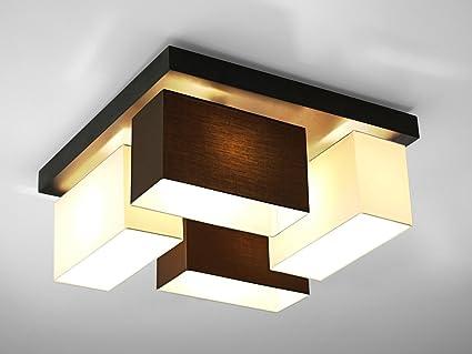 Deckenlampe wero design vitoria 001 mix braun weiß deckenleuchte