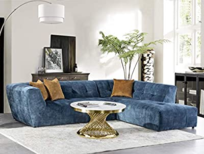 Acanva Collection Luxury Mid-Century Modern Velvet Living Room Sofa