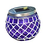 LiPing Solar Mosaic Landscape LED Outdoor Lamp Warm White Decorative Lights Garden Light Gutter Fence (Purple)