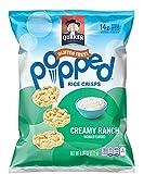 Quaker Popped Rice Crisps Snacks Creamy Ranch 7.04oz Bag (Pack of 4)