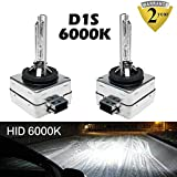 D1S D1C D1R 6000K HID Xenon Bulbs Diamond White 35W Car Headlight Lamp Super Bright OEM Factory Replce 66141 66142 85415C1 85415 Plug & Play (Set of 2)