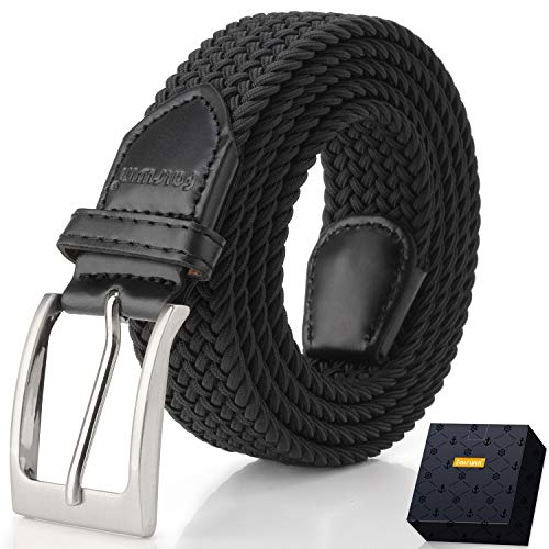 - Elastic Braided Belt, Fairwin Enduring Stretch Woven Belt for Men/Women/Junior