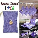 Quaanti 1pcs Car-Styling Bag Car Bamboo Charcoal Activated Carbon Air Freshener Odor Deodorant New Car Accessories (Purple)