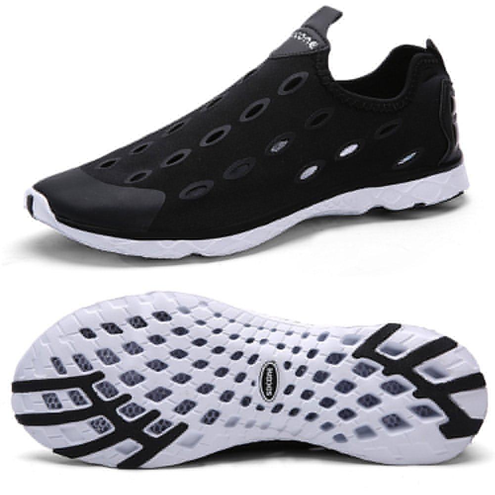 Zhuanglin Men's Mesh Slip On Water Shoes Casual Walking Shoes Size 7 D(M) US Black