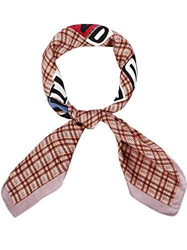 (Satinior Chiffon Scarf Square Handkerchief Satin Ribbon Scarf Neck Scarf for Women Girls Ladies Favor (27.56 x 27.56 inches, Print 3))