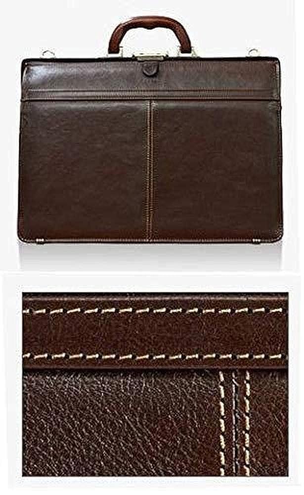 SADDLE ダレスバッグ 本革 メンズ 豊岡製鞄 日本製 口枠 ビジネスバッグ 22329  チョコ B07KHPRJH2