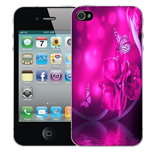 Mobile Case Mate iPhone 5s Silicone Coque couverture case cover Pare-chocs + STYLET - Water Butterfly pattern (SILICON)