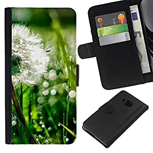 Ihec-Tech / Flip PU Cuero Cover Case para HTC ONE M7 - Plant Nature Forrest Flower 43
