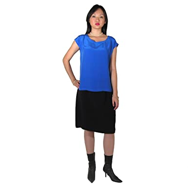 Silk Pencil Skirt by Royal Silk - Black - 33-34 Large at Amazon ...