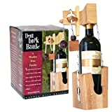 : Don't Break The Bottle Wood Wine Carrier Puzzle Gift - Original