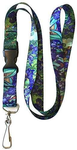 Buttonsmith Gogh Irises Premium Lanyard