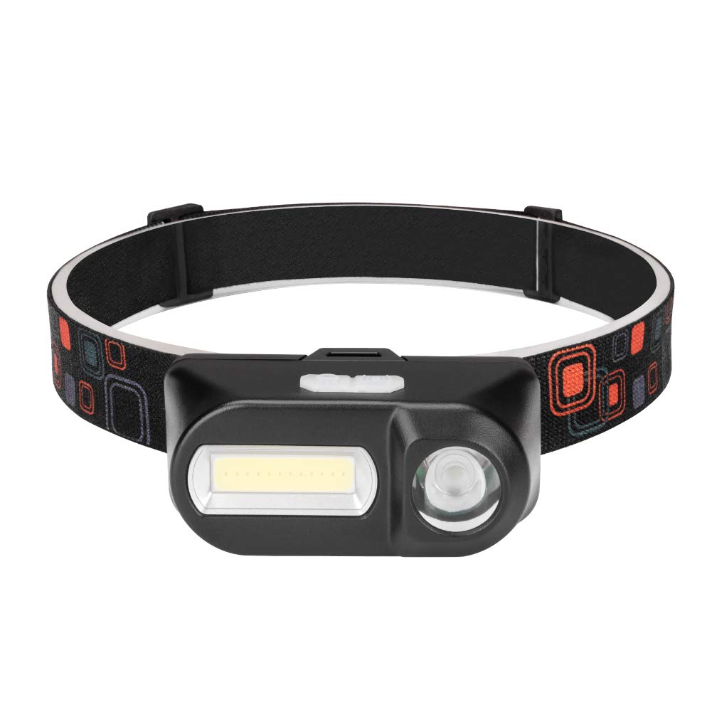 pesca Linterna frontal LED recargable por USB perfecta para correr correr para ni/ños y m/ás camping ligera resistente al agua Winzwon