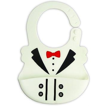 Amazon.com   Soft Silicone Baby Bib With Pocket 32062373d068
