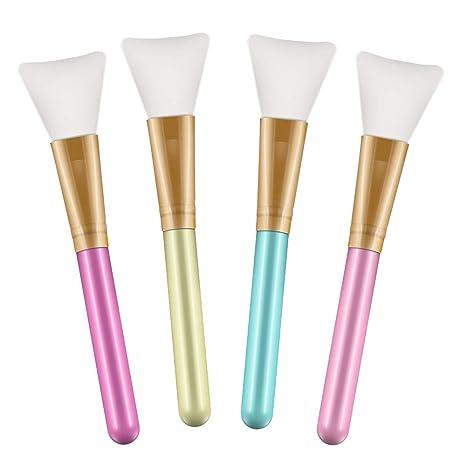 Terresa Gesichtsmaske Pinsel, 4er Pack Silikon Schlammmasken Bürste, Kosmetik Masken Pinsel für die Gesichtsmaske, Augenmaske