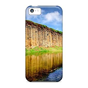 Awesome Backwater Flip Case With Fashion Design For Iphone 5c