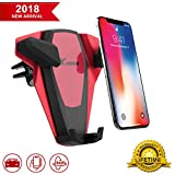 Cell Phone Holder for Car Adjust Air Vent Car Phone Mount Holder Universal Dashboard Car Mount Cradle for Phone X/ 8/7/ 6s/ Plus Samsung Galaxy S9/ S8/ S7/S6 Edge Note 8 All 4-6 inches Smartphone
