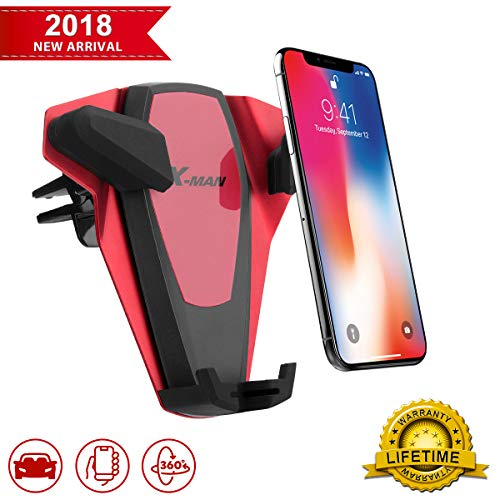 Cell Phone Holder for Car Adjust Air Vent Car Phone Mount Holder Universal Dashboard Car Mount Cradle for Phone X/ 8/7/ 6s/ Plus Samsung Galaxy S9/ S8/ S7/S6 Edge Note 8 All 4-6 inches Smartphone by OCTING