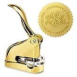 Luxury Gold Embosser - Last Name Monogram Desk Embosser