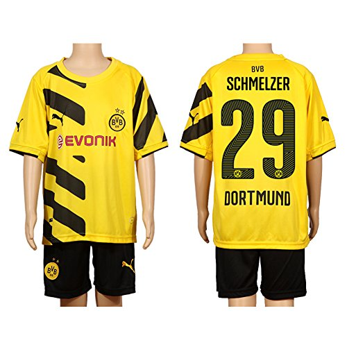 New Black & Yellow #29 Home Football Soccer Kids Child Jersey & Shorts