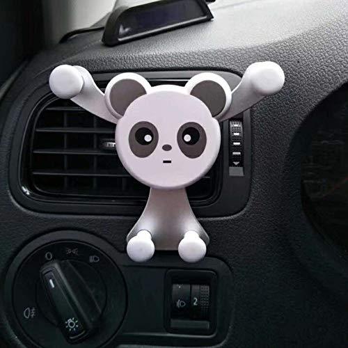 Vent Half (Kasien Phone Car Mount, Panda Car Phone Mount Holder Air Vent Vehicle Mount Cradle Holder For Cell Phone Phone Holder (Silver))