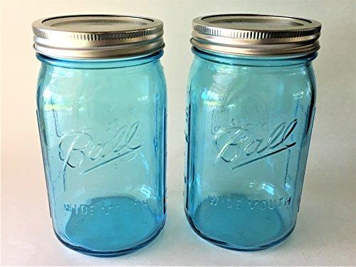Color Jar (Ball Mason Jar-32 oz. Aqua Blue Glass Ball Collection Heritage Color Series-Set of 2)