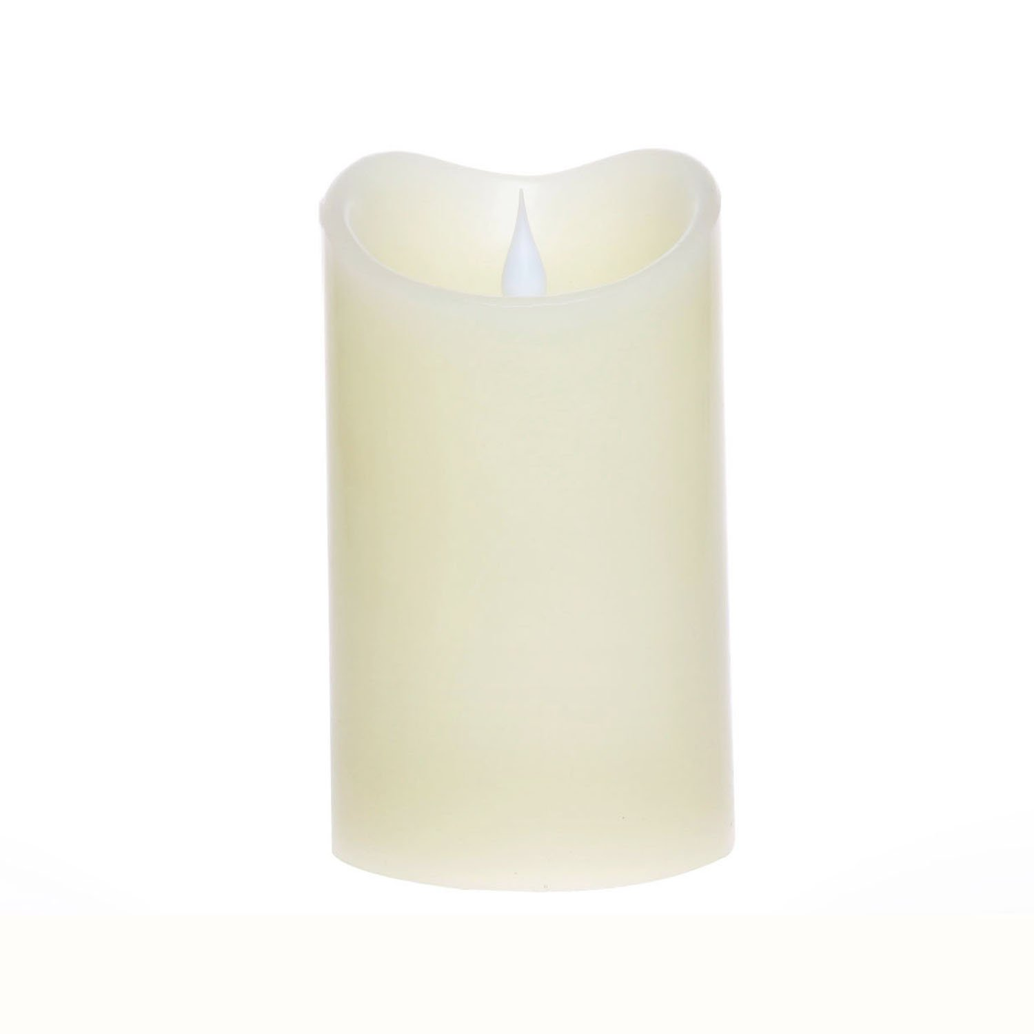 Led Candle Flameless Candle Moving Wick Free-Flowing 3D Fireless flame Real Wax LED Pillar Candle Light With Timer,Home Wedding candle,Battery-Operated,3.75x6.5 Inch,Ivory simplux LM13001