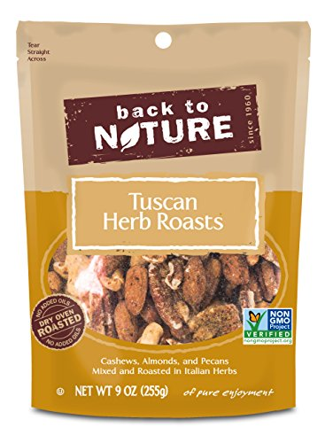 Back to Nature Non-GMO Tuscan Herb Roasts Blend Trail Mix, 9 Ounces (Pack of 9)