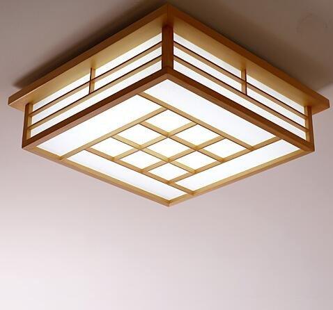 LYXG Lámparas japonesas dormitorio principal con techos de ...