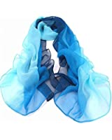 niceeshop(TM) Elegant Soft Chiffon Thin Scarf Wrap Lady Shawl Stole,Gradient Color
