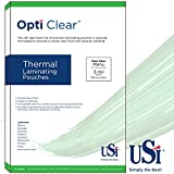 USI Opti Clear Premium Thermal (Hot) Laminating Pouches/Sheets, Menu Size, 3 Mil, 12 x 18 inches, Clear Gloss, Box of 100