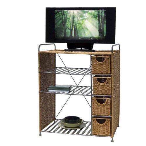Organize It All Heavy Duty Wicker Multipurpose Storage Unit
