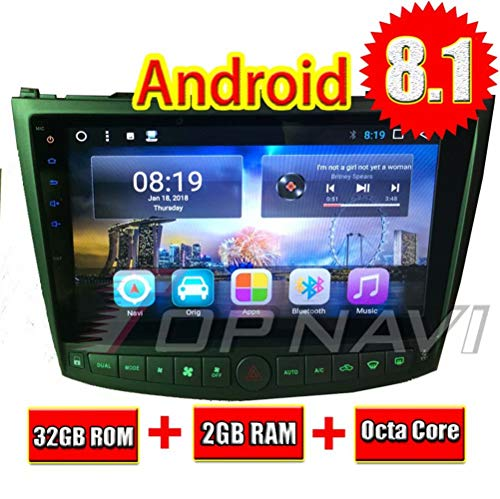 2007 And 2008 Calendar - TOPNAVI 32GB Android 8.1 Car Radio for Lexus IS350 IS250 2005 2006 2007 2008 2009 2010 2011 Stereo GPS Navi 10.1Inch Octa Core 2GB RAM WiFi 3G RDS MirrorLink