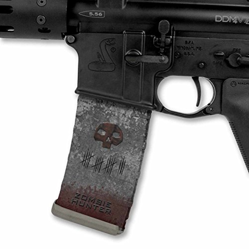 Ultimate Arms Gear Mag Wraps 2 Pack of Zombie Tomb Stone Tombstone Hunter AR15/M4/M16 .223 5.56 30rd Mag Waterproof Durable Skin Kit - USA MADE