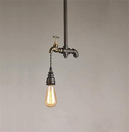 PLLP Iluminación Interior Araña Lámparas Vintage Industrial Colgante Luz De Techo Steampunk Retro Loft Tubos De
