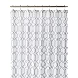 Tommy Bahama 200781 Cotton Shower Curtain, Shoretown Trellis Gray by Tommy Bahama