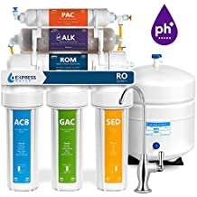 Express Water Alkaline Reverse Osmosis Water Filtration System – 10 Stage RO Mineralizing Purifier – Mineral, pH +, Antioxidant – Under Sink Water Filter with Remineralization – 50 GDP