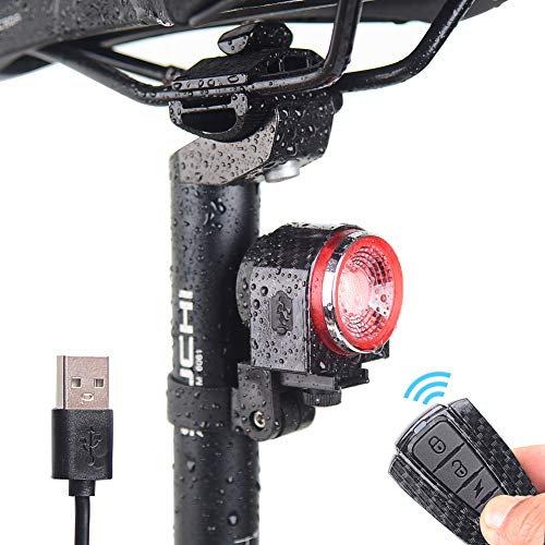 CAOSGO Intelligent Bell Alarm Bicycle taillights Rechargeable, Anti-Theft Alarm, with Remote Control, Electric or Mountain Bike Accessories ()