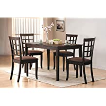 ACME 06850 Cardiff Dining Table, Espresso Finish