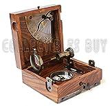 Six Instrument Marine Master Box - Compass Telescope Scale Chart Spirit Level Alidade