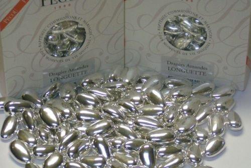 Dipped Silver Jordan Almonds French Dragées -1 LB ()