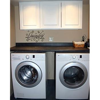 Amazon Com Laundry Room With Bubbles Vinyl Wall Art