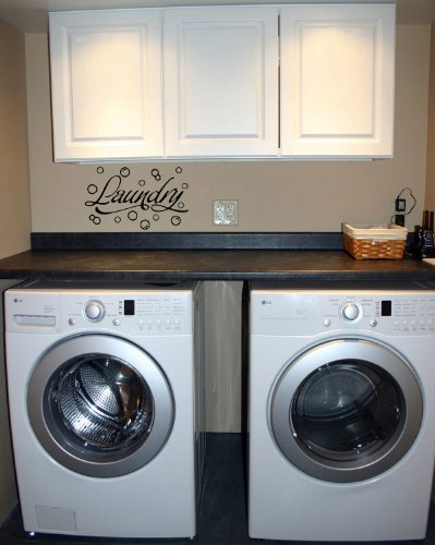 Laundry Room with Bubbles - Vinyl Wall Art Decal Sticker Decor Words Lettering
