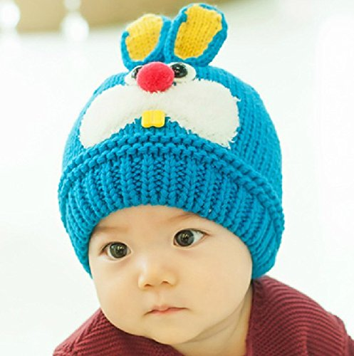 Dealzip Inc Super Lovely Rabbit Pattern Baby Hat Crochet Caps Winter - Blue 9b8eec0883cc