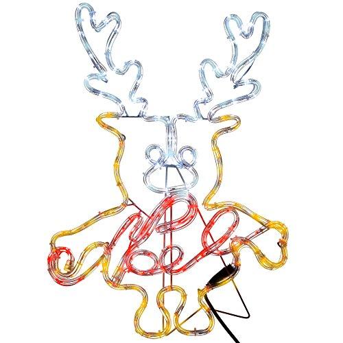 WeRChristmas Pre-Lit Led Noel Reindeer Rope Light Window Silhouette, 61 Cm - Multi-Colour