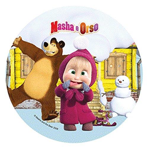 Générique Disque en sucre Masha et Michka 21 cm